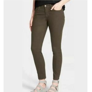Eileen Fisher High Rise Army Green Skinny Jeans